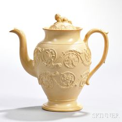 Wedgwood Smear Glazed Caneware Coffeepot and Cover