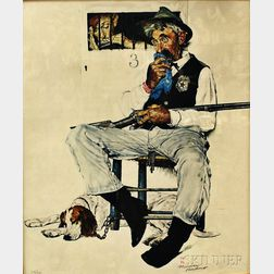 Framed Norman Rockwell Offset Lithograph