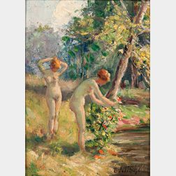 Edward Henry Potthast (American, 1857-1927)      Summer-Nude Study II