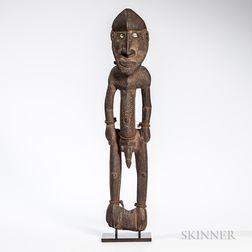 Large Sepik River Ancestral Spirit Figure