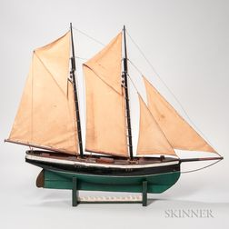 Painted and Carved Model of the Schooner Centennial