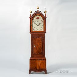 Mahogany and Mahogany Veneer Inlaid Dwarf Clock
