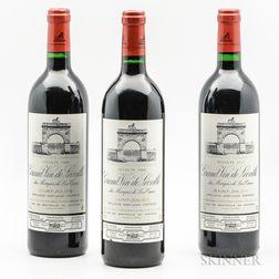 Chateau Leoville Las Cases 1996, 3 bottles