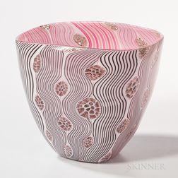 Kait Rhoads Pink Surprise   Art Glass Sculpture