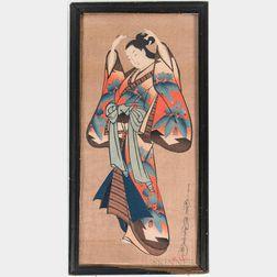Kaigetsudo Dohan Woodblock Print
