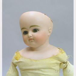 German Turned Bisque Shoulder Head Doll
