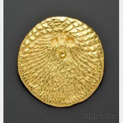 23kt Gold Pendant, Max Ernst