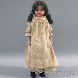 Heubach Bisque Shoulder Head Girl Doll