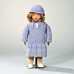 Kamkins Painted Oilcloth Girl Doll