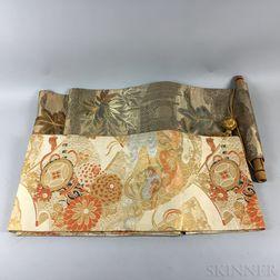 Two Embroidered Obis.     Estimate $500-700