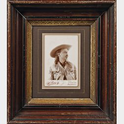 "Cabinet Card Photograph of ""Buffalo Bill"" Cody"