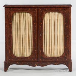 Kingwood- and Walnut-veneered Cabinet