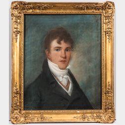 Albert Gallatin Hoit (Massachusetts/Hampshire, 1809-1856)      Portrait of Mr. Fiske of Boston