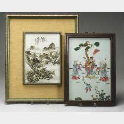 Three Framed Porcelain Plaques