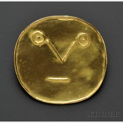 23kt Gold Pendant, Pablo Picasso