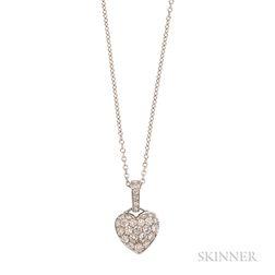 Platinum and Diamond Heart Pendant, Tiffany & Co.