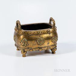 Polished Bronze Quadripod Censer