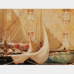 Hobart Nichols, Jr.  (American, 1869-1962)      Working the Sails
