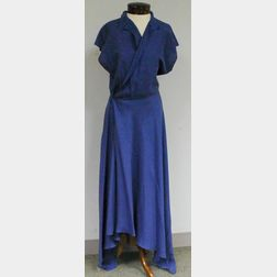 Ralph Lauren Purple Label Periwinkle Silk Wrap-front Dress