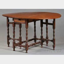 William & Mary Maple Gate-leg Table