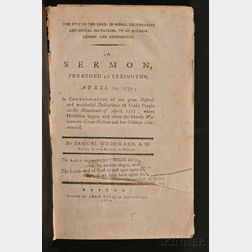 (Revolutionary War, Lexington and Concord), Chandler, John (1731-1810), His Copy