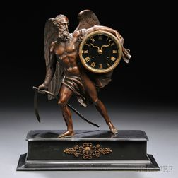 Father Time Statue Clock