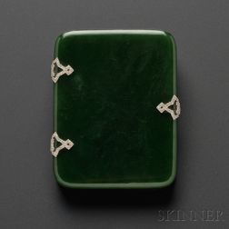 Art Deco Nephrite Box