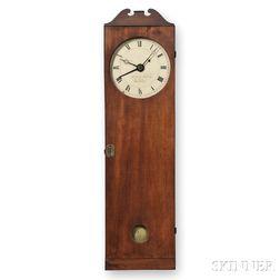 Elnathan Taber Mahogany Coffin Clock