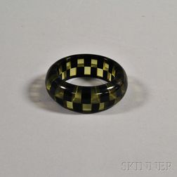Bakelite Checkerboard Bangle