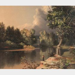 Attributed to Samuel Haydon Sexton (American, 1813-1890)    View on the Mohawk River