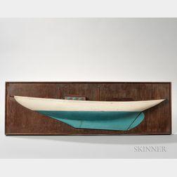Painted Half-hull Model of the Tondelayo
