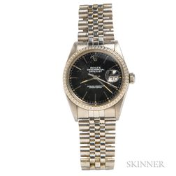 "Stainless Steel ""Oyster Perpetual Datejust"" Wristwatch, Rolex"