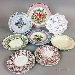 Seventeen English Ceramic Plates