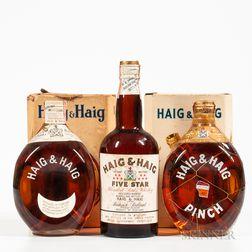 Mixed Haig & Haig, 3 4/5quart bottles (2 oc)