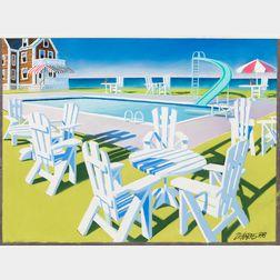 Wade Zahares (American, 20th/21st Century)      Adirondack Chairs