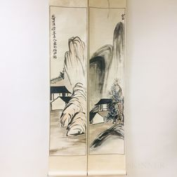 Hanging Scroll Couplet