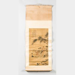 Hanging Scroll Depicting Poet Li Bai