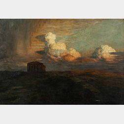 Émile René Ménard (French, 1862-1930)      Thunderheads Above the Temple of Concordia, Agrigento