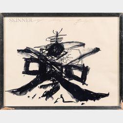 Walasse Ting (Chinese/American, 1929-2010)      Blue Tango (Fortune Kookie IV)