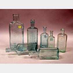 Lot of Aqua Medicine Bottles