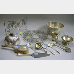 Twenty-seven Miscellaneous Sterling and Six Silver Plated Table and Flatware Items