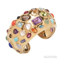 "18kt Gold Gem-set ""Fifties"" Bracelet, Seaman Schepps"