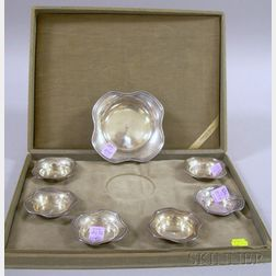 Reed & Barton Seven-piece Cased Sterling Silver Nut Set.