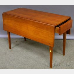 Country Federal Cherry Drop-leaf Table with End Drawer