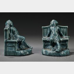 Rookwood Pottery Figural Bookends