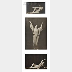 Arnold Genthe (American, 1869-1942)      Three Studies of Isadora Duncan
