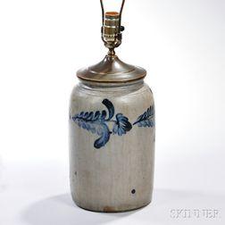 Stoneware Jar Table Lamp