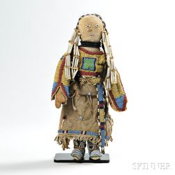 Lakota Beaded Hide Doll