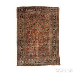 Silk Heriz Prayer Rug