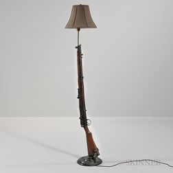 Short Magazine Lee-Enfield Mark III Bolt-action Rifle Converted to Floor Lamp
